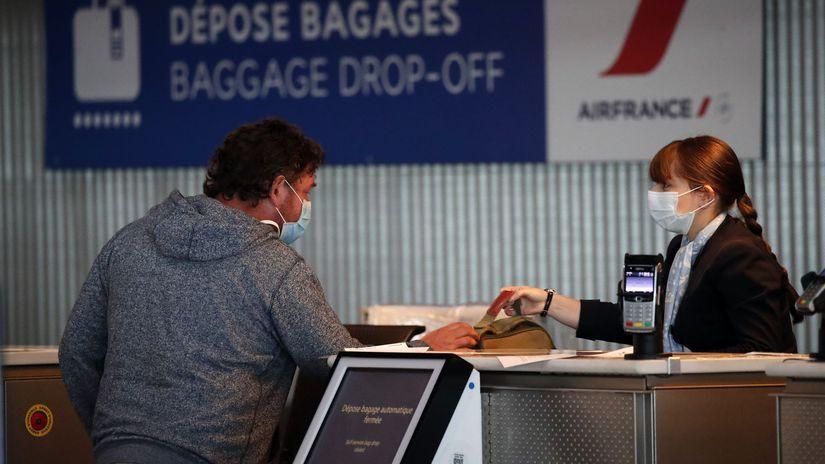 paríž letisko koronavírus