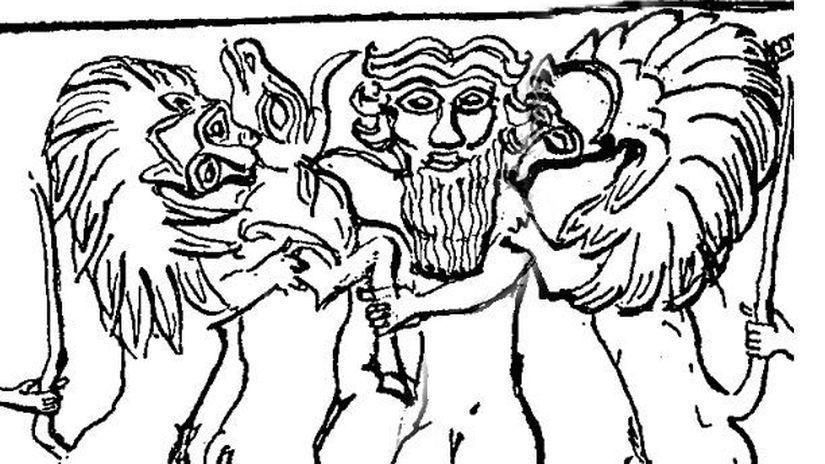 Gilgameš na pečati z Mesannapedy 2600 p.n.l.