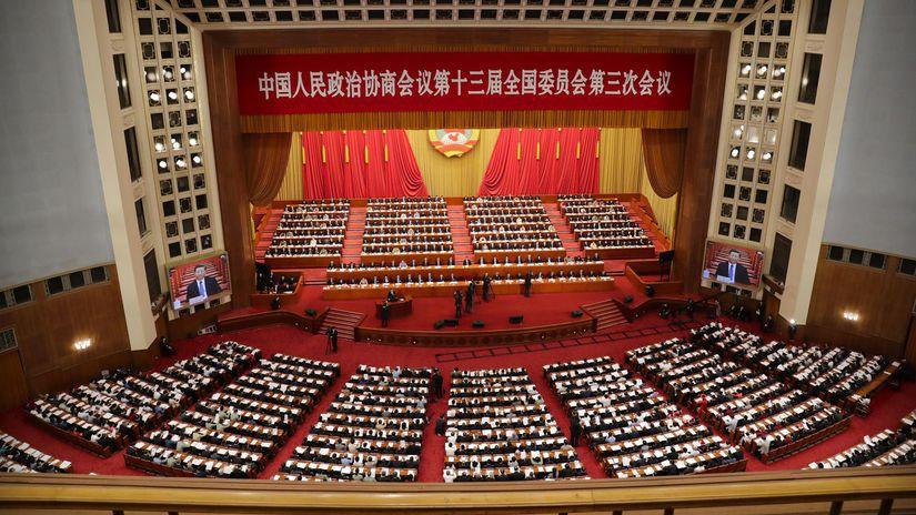 Peking / Čína / Parlament / Zasadnutie /