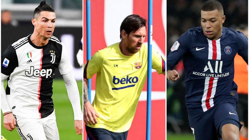 Ronaldo, Messi, Mbappé