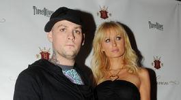 Paris Hilton a jej bývalý priateľ Benji Madden na zábere zo septembra 2008.