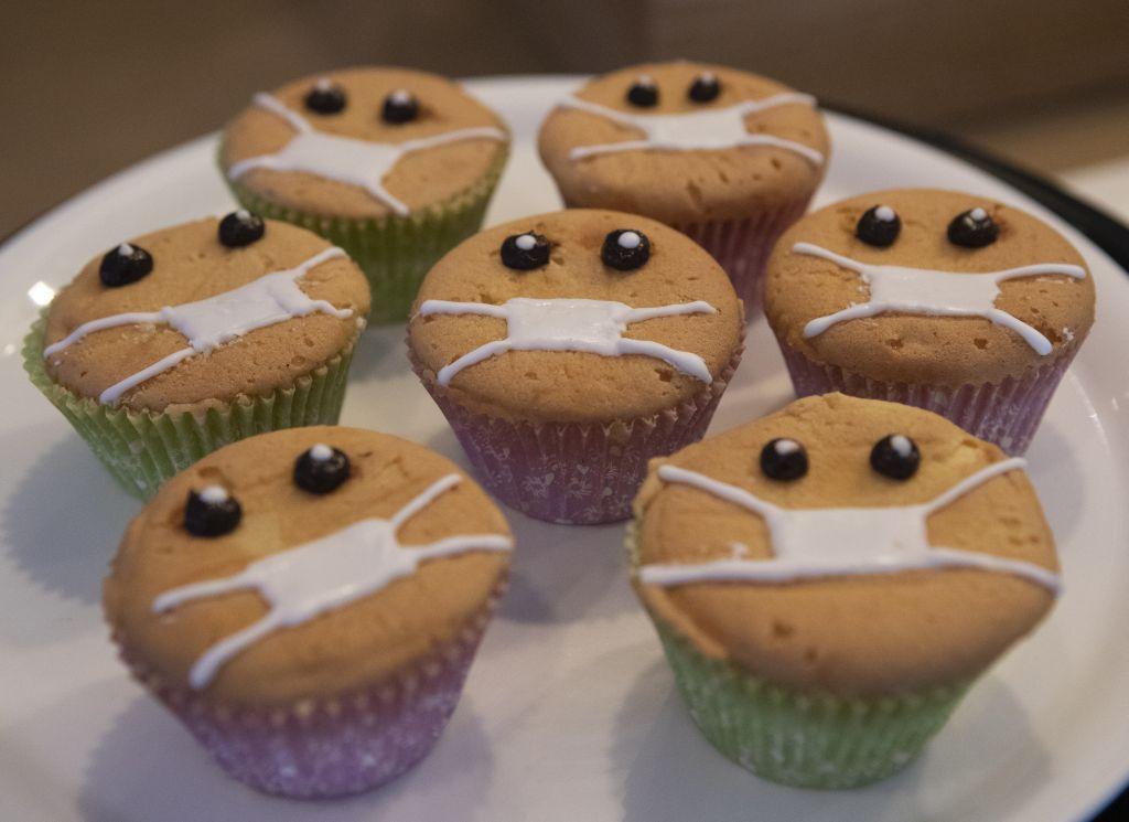 koláče, rúška, cupcake