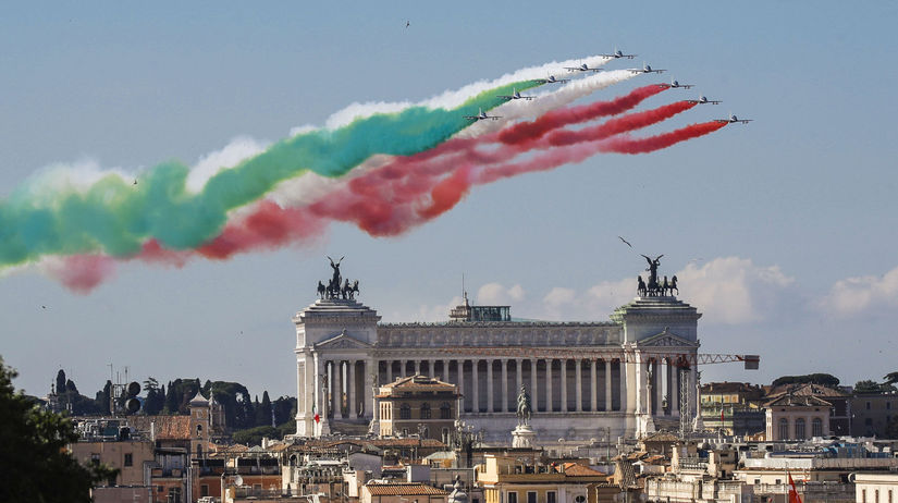 Taliansko, koronavírus, oslavy