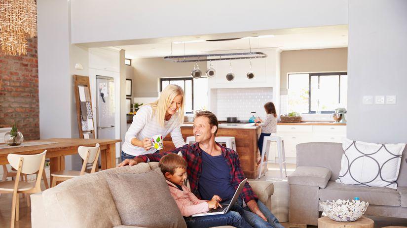 bývanie, obývačka, rodina