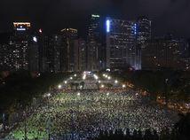 Hongkong Čína Tchien-an-men výročie spomienka protest
