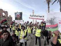 Líbya / Tripolis / demonštrácie / žlté vesty / Chalífa Haftar /