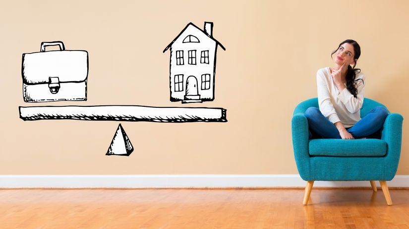 žena, dom, práca, rovnováha, snívanie, rozmýšľanie