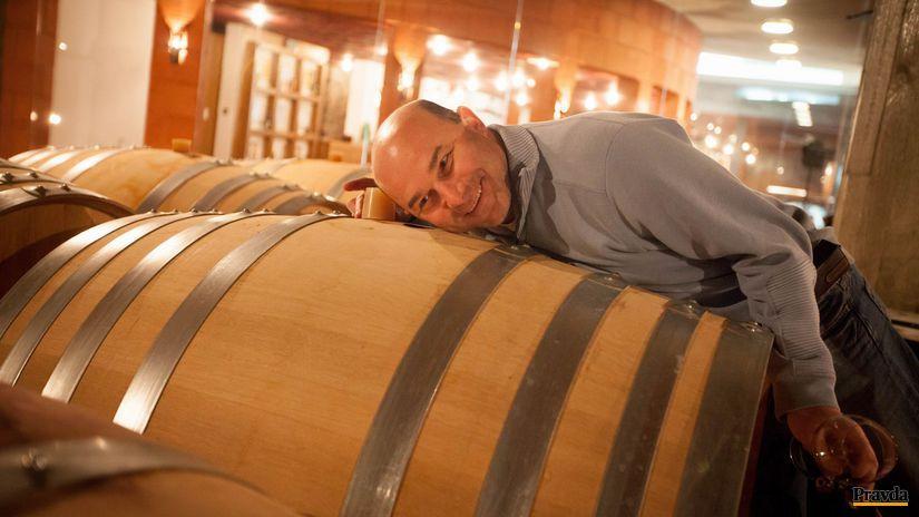 Vladimír Mrva, víno, sudy