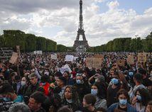 Protest francúzsko paríž demonštrácia floyd