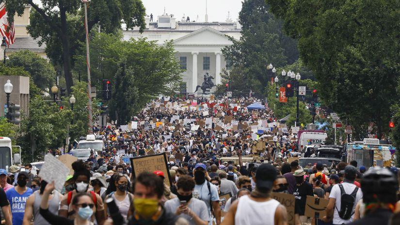 protest floyd demonštrácia Washington