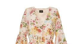 Hodvábne šaty s florálnym motívom Liu Jo, predávajú sa za 299 eura.