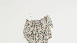 Šaty s florálnym motívom Mango, predávajú sa za 79,99 eura.