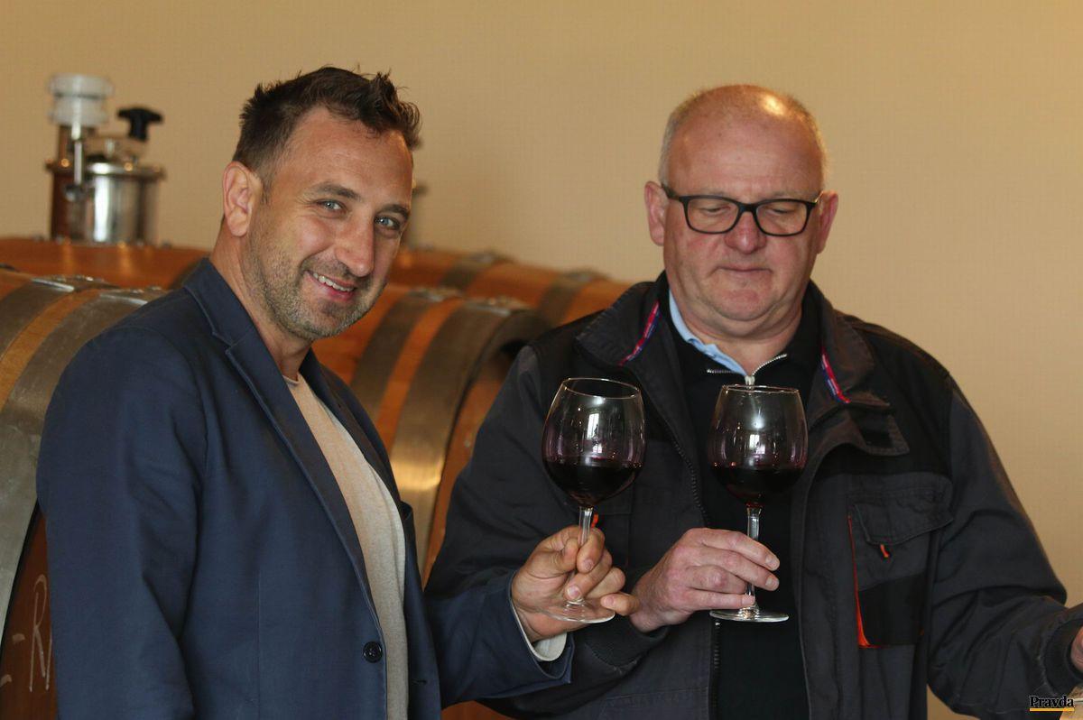 Martin Chovanec (vľavo) a Alfréd Havlas - mladosť a skúsenosť Vinum Nobile.