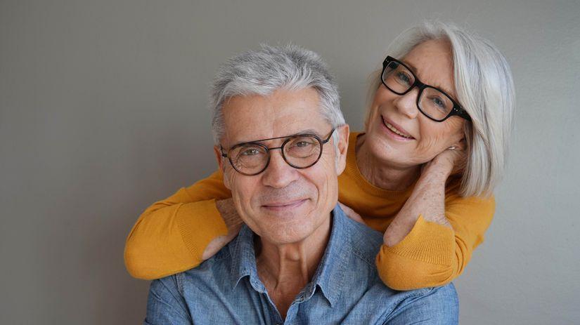 penzisti, manželia, úsmev