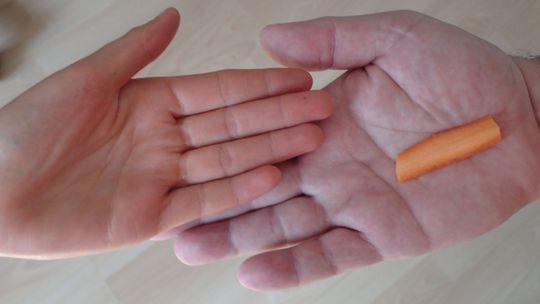 ruky, dlane, mrkva, oranžová, karotén, farba kože