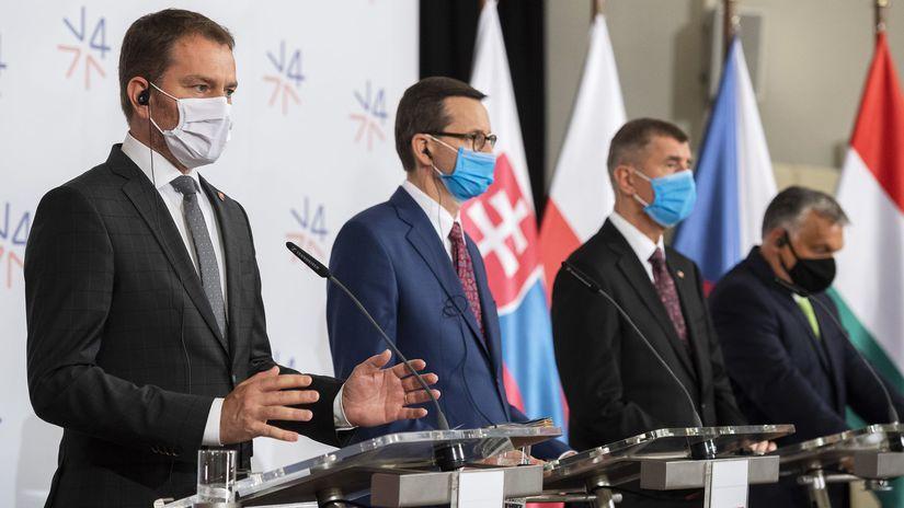 ČR SR Lednice koronavírus V4 premiéri matovič