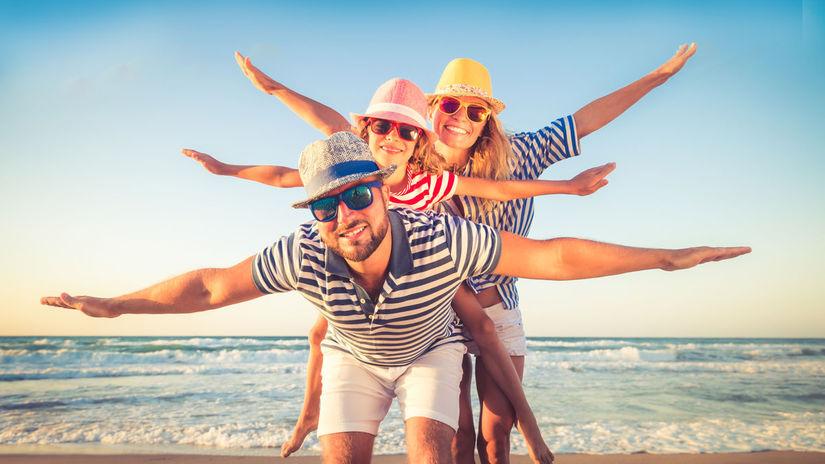 dovolenka, leto, rodina, more