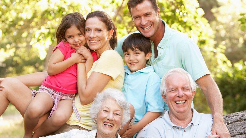 rodina, generácie, rodičia, deti