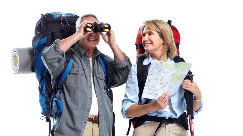 turisti, ďalekohľad, cestovanie