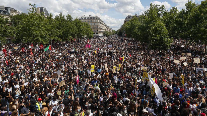 Francúzsko rasizmus protesty Paríž