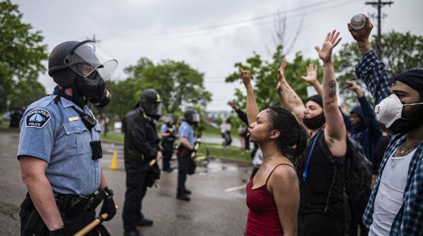 USA Minneapolis polícia zabitie černoch protesty