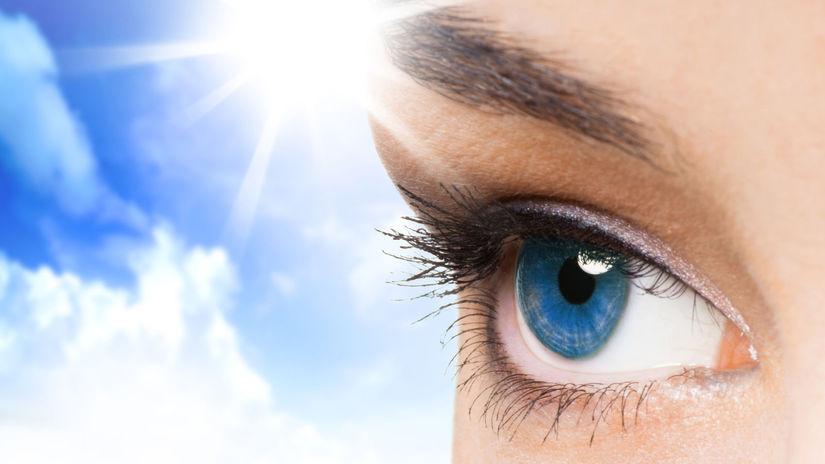 oko, zrak, mihalnice, žena