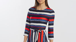 Prúžkované šaty Gant, info o cene v predaji.