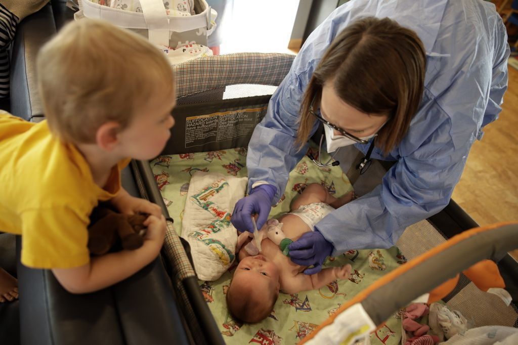 Kansas, deti, bábätko, lekárka, doktorka