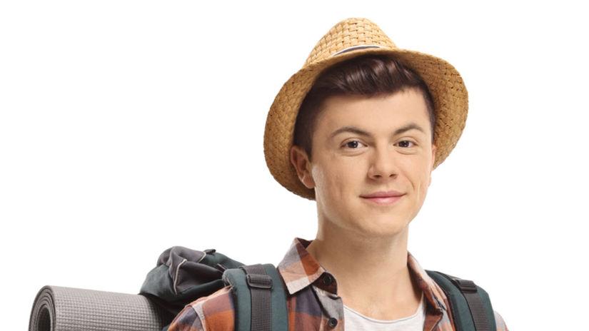 chlapec, turista, výlet, cestovanie