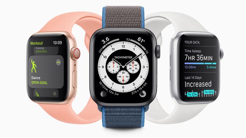 Apple Watch, WatchOS 7, operačný systém, hodinky