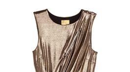 Trblietavé šaty H&M, predávajú sa za 32,99 eura.