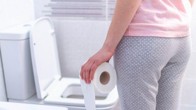 zápcha, toaleta, záchod, potreba, toaletný papier