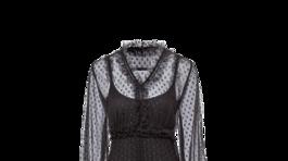 Dámske šaty s priehľadnými detailmi Riani, info o cene v predaji.