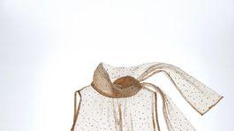Priehľadný dámsky top s viazačkou okolo krku Zara, predáva sa za 17,99 eura.