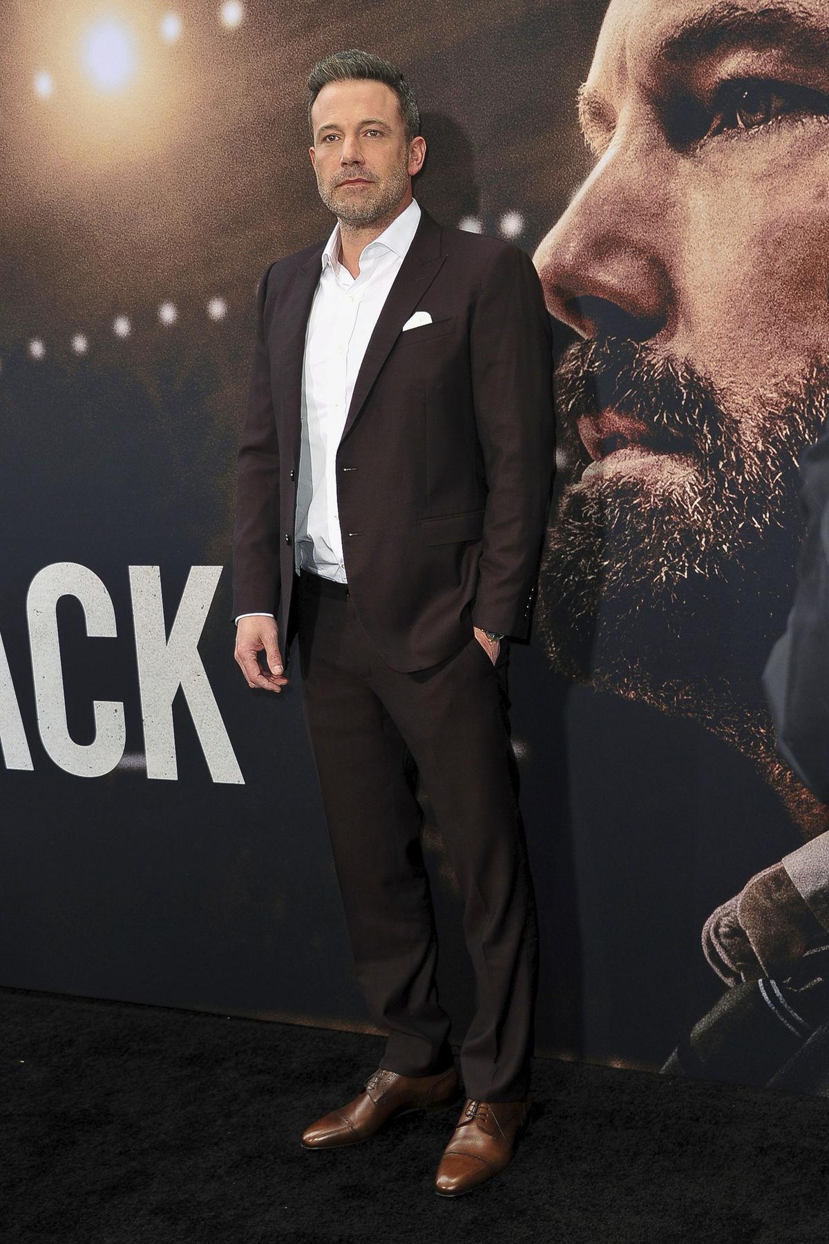 Herec Ben Affleck na zábere z 1. marca 2020 na...