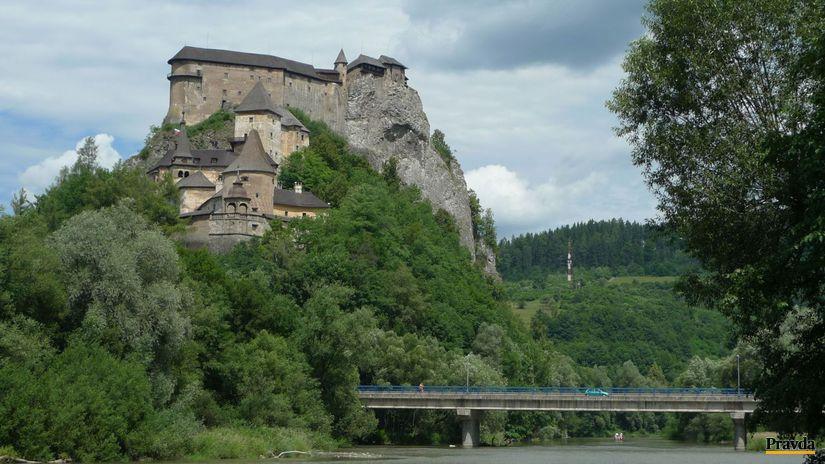 turista, turistika, dovolenka, Oravsky hrad, Orava