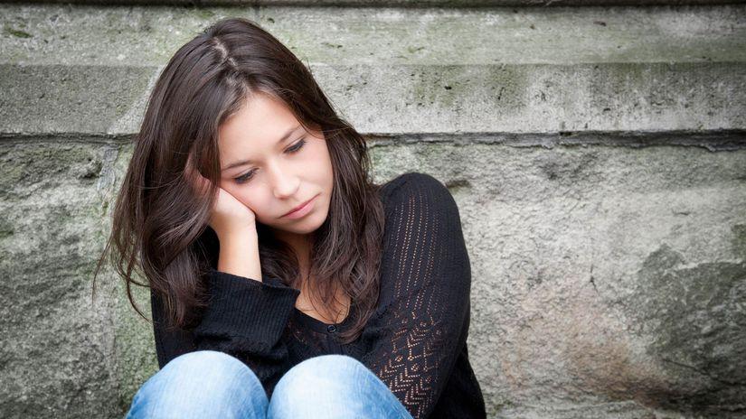 žena, smútok, depresia