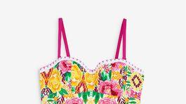 Dámske jednodielne plavky s kvetinovým vzorom Figleaves. Predávajú sa za 65 eur.