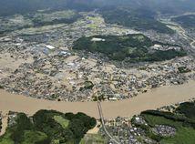 Japonsko Počasie Dážď Záplavy