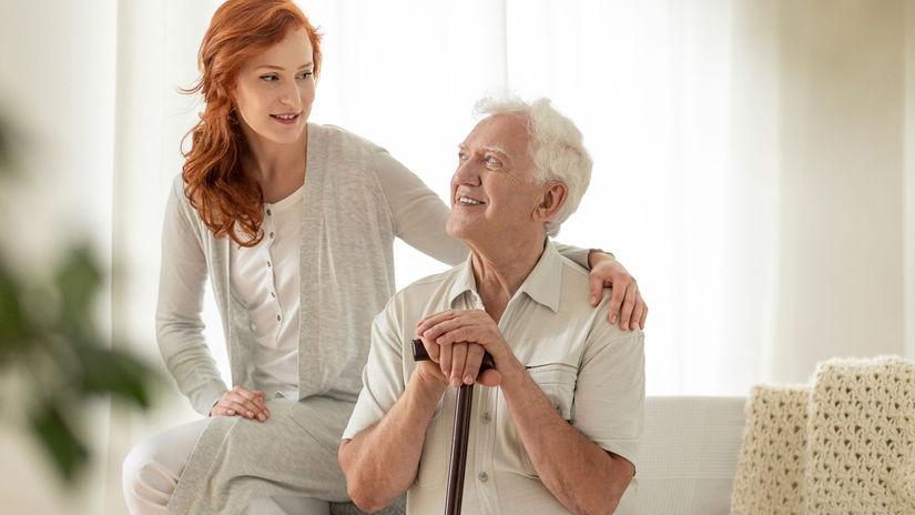 opatrovanie, rodina, dôchodca, dcéra