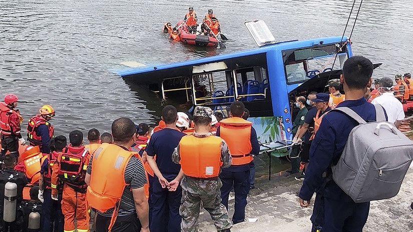 čína autobus nehoda
