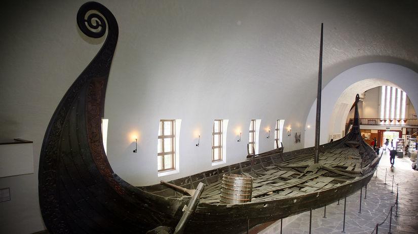 Nórsko, loď, Vikingovia, hrob