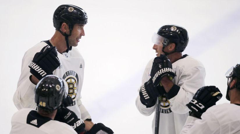 USA hokej NHL Boston Bruins tréning
