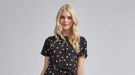 Dámske bodkované šaty Dorothy Perkins, predávajú sa za 54 eur.