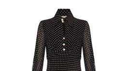 Dámske bodkované šaty Finery, predávajú sa za 180 eur.