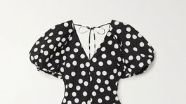 Dámske bodkované šaty Lee Matthews, zlacnené na 280 eur.