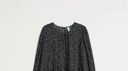 Dámske bodkované šaty Mango, predávajú sa za 29,99 eura.