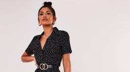 Dámske bodkované šaty Misguided, predávajú sa za 33 eur.