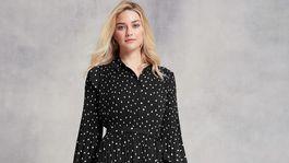 Dámske bodkované šaty Vero Moda, predávajú sa za 84 eur.