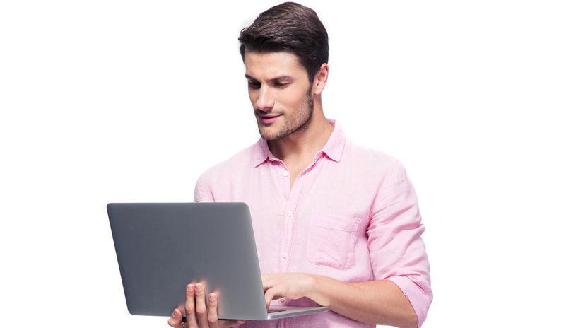 muž, gay, notebook